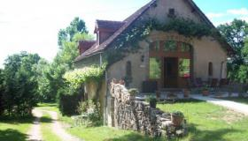 Remarkable stone house with studio and two gites on 1 ha private land