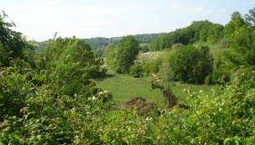 Beautiful building site for sale in France with two levels